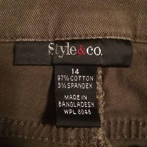 STYLE & CO. khaki green size 14 jeans